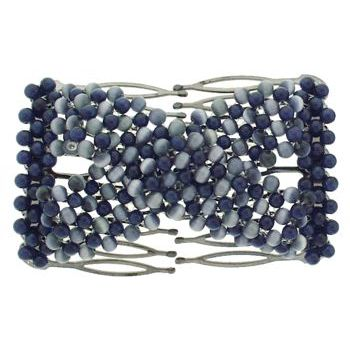 Evita Peroni - Kiddie Comb - Montana Blue - Connected Beaded Brass Combs (1)