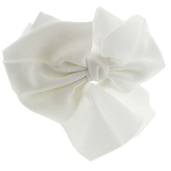 SBNY Accessories - Couture - Clover - Large Grosgrain Ribbon Bow Headband - Alpine Snow