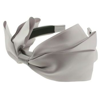 SBNY Accessories - Couture - Heather - Satin Bow Headband - Light Grey