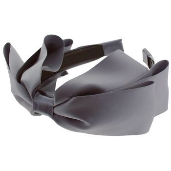SBNY Accessories - Couture - Heather - Satin Bow Headband - Pewter
