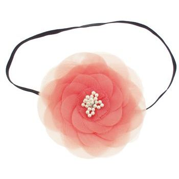 SBNY Accessories - Couture - Camillia - Flowering Magnolia with Pearl Center Bandeau - Peach