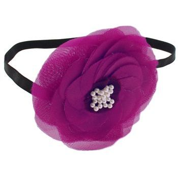 SBNY Accessories - Couture - Camillia - Flowering Magnolia with Pearl Center Bandeau - Magenta