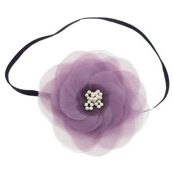 SBNY Accessories - Couture - Camillia - Flowering Magnolia with Pearl Center Bandeau - French Lavender