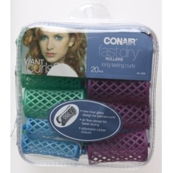 Conair - Fast Dry Rollers - 20 Pieces  3 Sizes