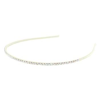 Rachel Weissman - Rhinestones on Silk Wrapped Headband - Ivory w/ White AB (1)