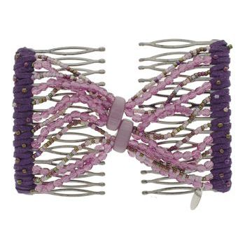 Evita Peroni - Summer Double Comb - Perfect Plum - Connected Beaded Combs (1)