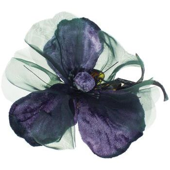 Karin's Garden - Velvet Poppy Large Jaw Clip - Purple (1)