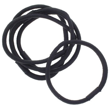 SOHO BEAT - Sexy Styles - Metal Free - Hair Friendly Elastic - .5 cm - Set of 5 - Black