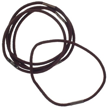 SOHO BEAT - Sexy Styles - Hair Friendly Elastic - .25 cm - Set of 5 - Brown