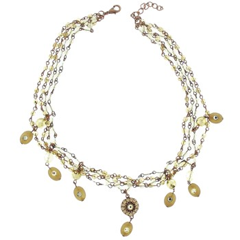SOHO BEAT - Masquerade Collection - Jeweled Swarovski Triple Row Victorian Necklace - Mint Julep