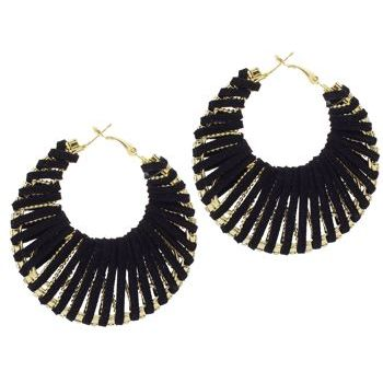 SOHO BEAT - Navajo Couture - Siberian Glam Earrings - Raven Black