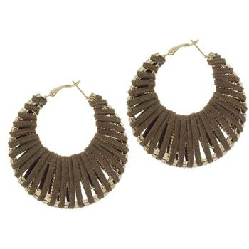 SOHO BEAT - Navajo Couture - Siberian Glam Earrings - Chocolate Bark