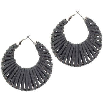 SOHO BEAT - Navajo Couture - Siberian Glam Earrings - Smoke