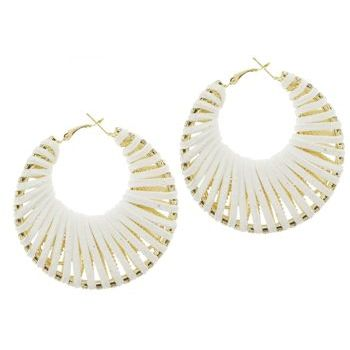SOHO BEAT - Navajo Couture - Siberian Glam Earrings - Winter White