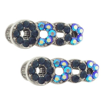 Karen Marie - Small Loop Clips - Blue (set of 2)