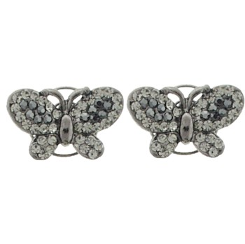 Karen Marie - Floating Crystal Butterfly Coils  - Smoke (set of 2)