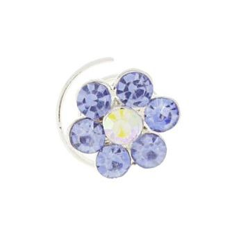 Karen Marie - Crystal Flower Coils  - Light Blue & White AB (1)