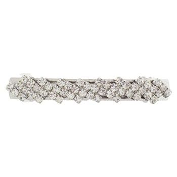 Karen Marie - Zig Zag Crystal Barrette - White Diamond