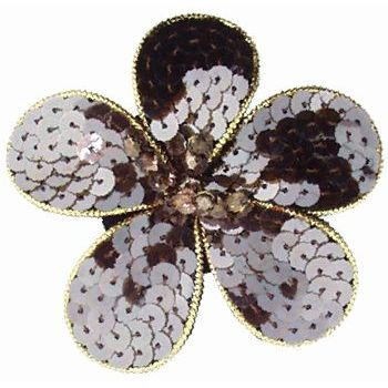 Balu - Sequin Flower Pin - Chocolate Brown (1)