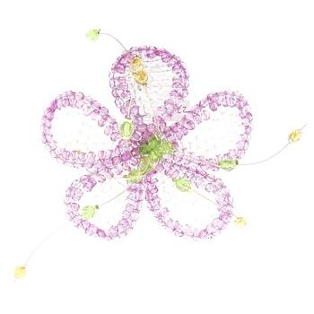 Balu - Cozumel Beaded Flower -  Brooch Pin (1)