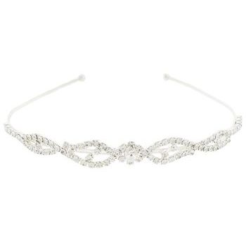 Karen Marie - Bridal Collection - Crystal Loop Headband - White Diamond