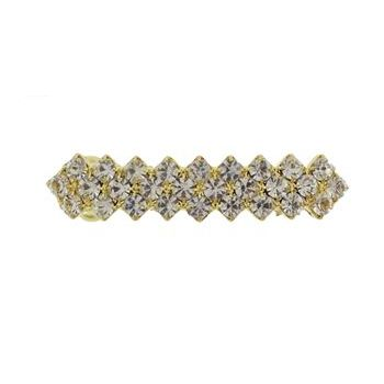 Karen Marie - Bridal Collection - Petite Crystal Zig Zag Barrette (1)
