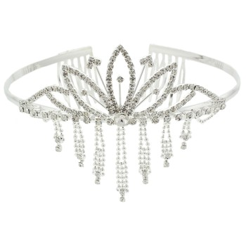 Karen Marie - Bridal Collection - Crystal Dangling Stone Tiara (1)