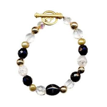 HB HairJewels - Diva Collection - Black Crystal Bracelet