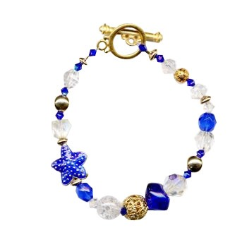 HB HairJewels - Diva Collection - Blue Crystal Bracelet