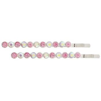 Karen Marie - Crystal Circle Bobby Pins - Rose & Ab (Set of 2)