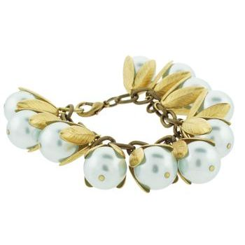 Dame Design - Beadcap Bracelet - Blue and Brass (1)