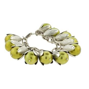 Dame Design - Beadcap Bracelet - Citrine and Silver (1)