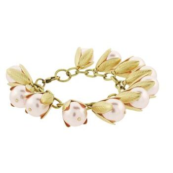 Dame Design - Beadcap Bracelet - Pink and Brass (1)