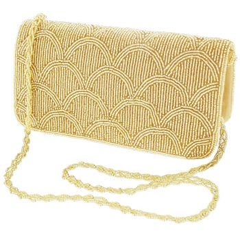 Karen Marie - Gold Beaded Mermaid Clutch