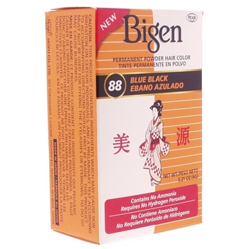 Bigen - Permanent Powder Hair Color - Blue Black #88