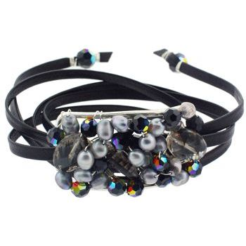 Rachel Abroms - Mosaic Jeweled Hair Wrap - Black (1)
