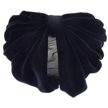 Karen Marie - Snood Collection - Large Velvet Snood - Black Opal