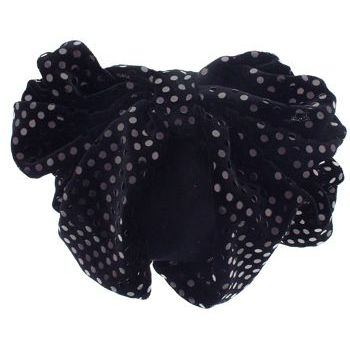 Karen Marie - Snood Collection - Large Velvet Snood with Sequins - Black Opal