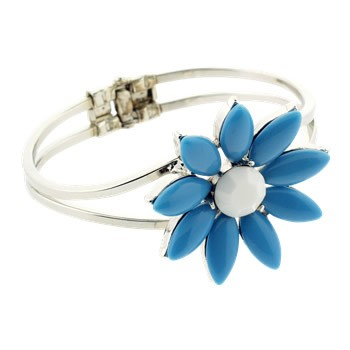 Alex and Ani - Vintage Daisy Cuff - Aqua