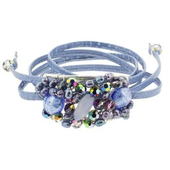 Rachel Abroms - Mosaic Jeweled Hair Wrap - Blue (1)