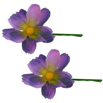 Karen Marie - Le Fleur Collection - Cosmos Bobby Pins - Purple (2)
