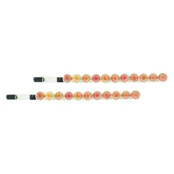 Karen Marie - Large Crystal Bobby Pins - Tangerine (Set of 2)