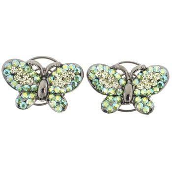 Karen Marie - Floating Crystal Butterfly Coils  - Peridot (set of 2)