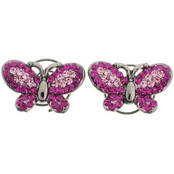 Karen Marie - Floating Crystal Butterfly Coils  - Rose(set of 2)