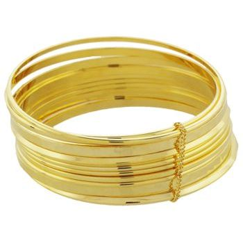 Linda Levinson - Golden Couture Bangles - Set of 10