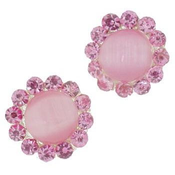 Karen Marie - Crystal Moonstone Coils - Pink (set of 2)