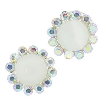 Karen Marie - Crystal Moonstone Coils - White AB (set of 2)