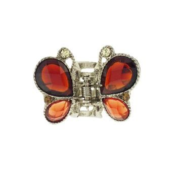 Karen Marie - Mini Butterfly Jaw Clip - Topaz/Orange (1)