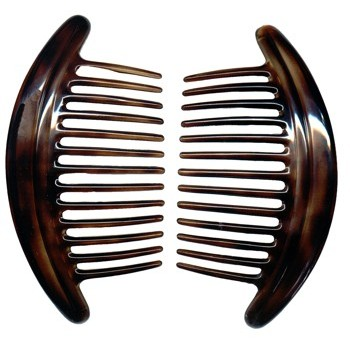 Camila - Interlocking Combs - Tort (2) - All Sales Are Final On This Item