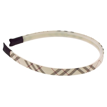 HB HairJewels - Lucy Collection - Skinny Prep Headband - Light Brown (1)
